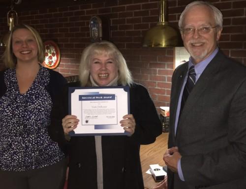 Vicki DeRosier Receives Success-at-Work Award