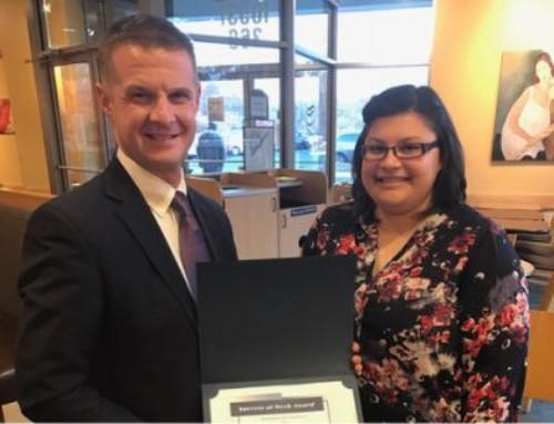 Maria Wardlow Receives Success-at-Work Award