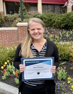 Success at Work Award – April Lombardi